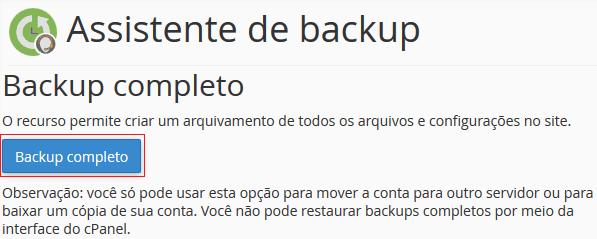 Backup Completo.
