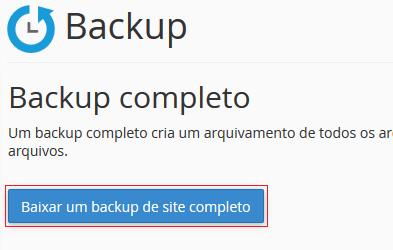 Baixar um backup completo.