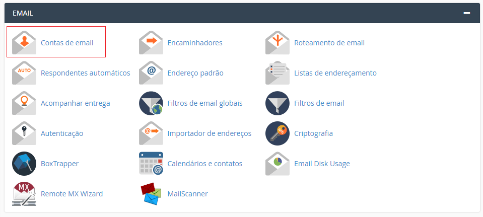 Aba Email do cPanel.
