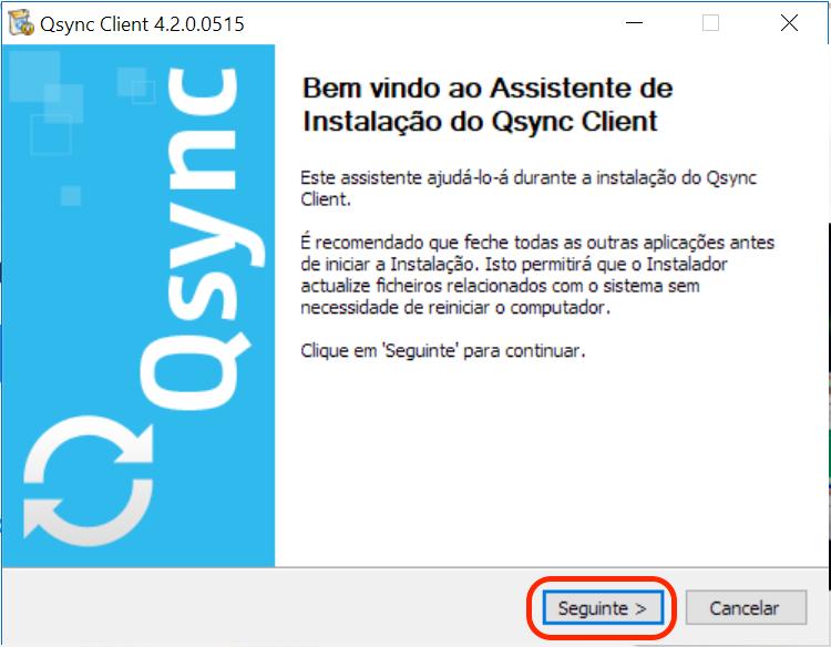 Instalar e configurar o QSync no Windows - Base de